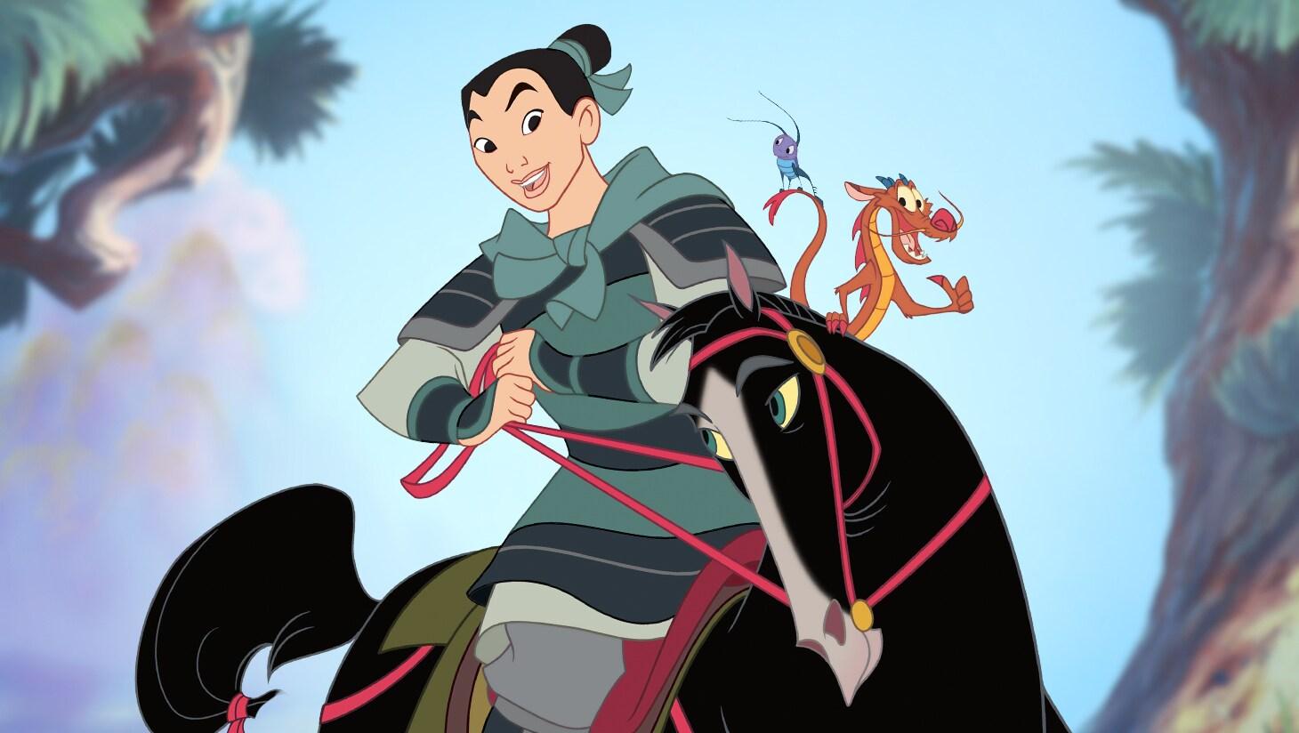 Mulan, Mushu, Cri-Kee and Khan Khan