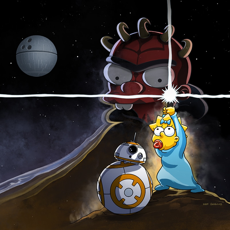 "Maggie Simpson in ""The Force Awakens From Its Nap"" Keyart"