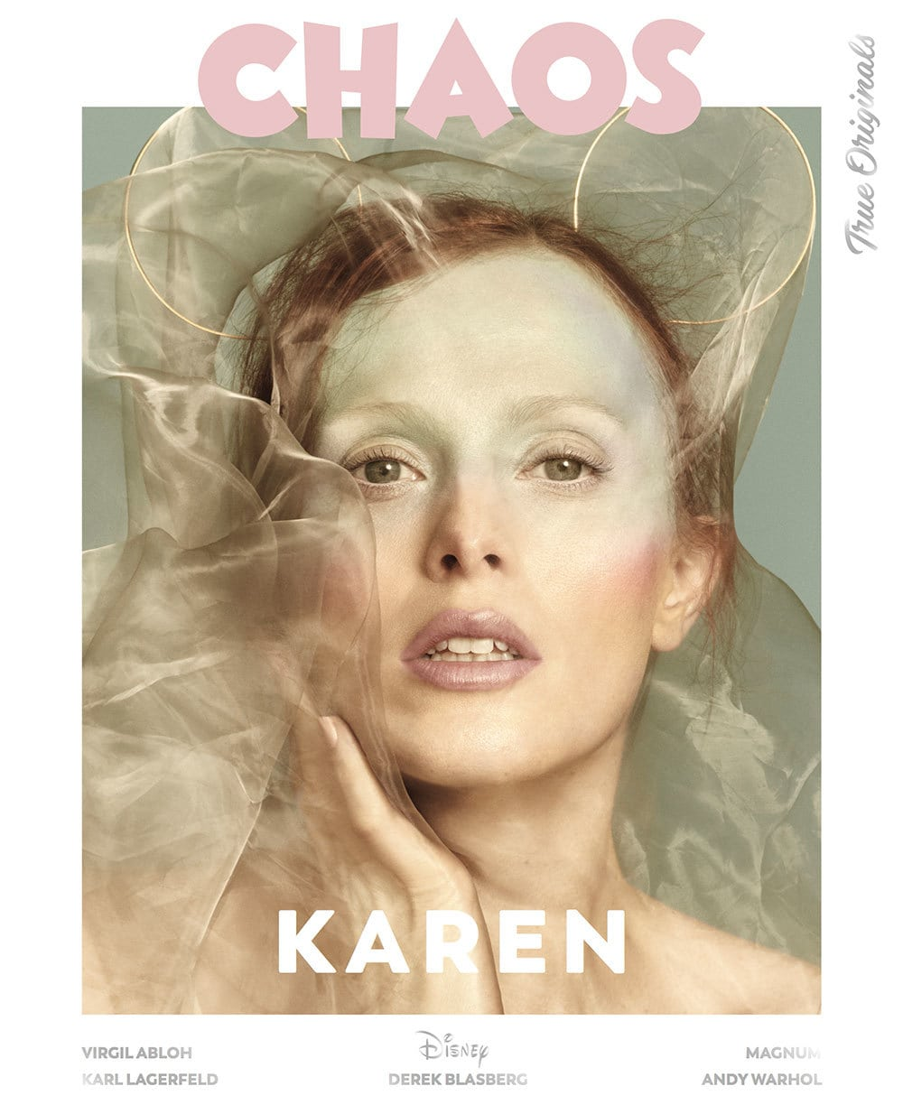 Karen Elson on a special edition cover for Chaos magazine