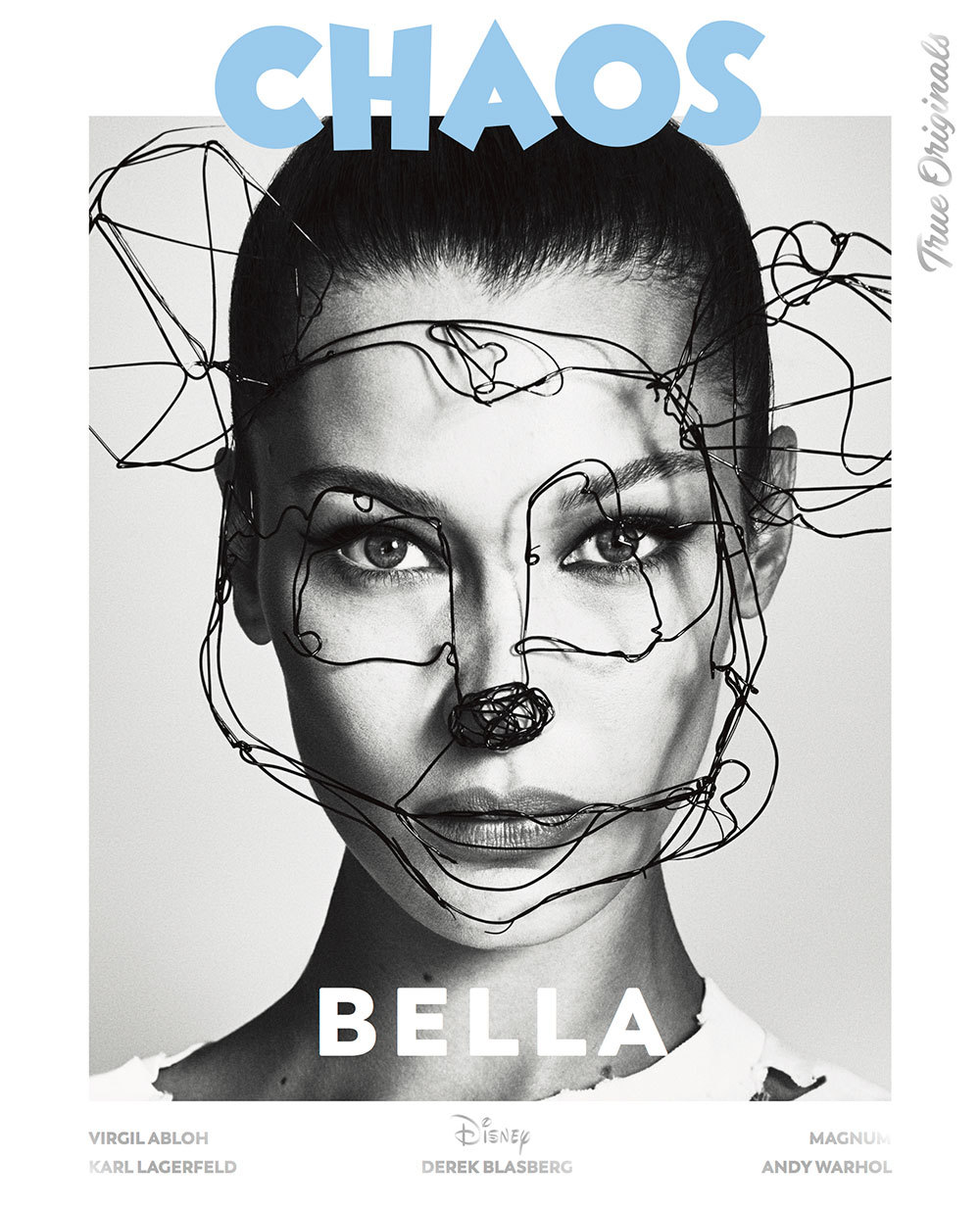 Bella Hadid on a special edition cover for Chaos magazine