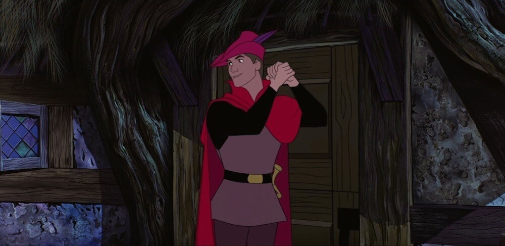 "Prince Philip from the animated movie ""Sleeping Beauty"""