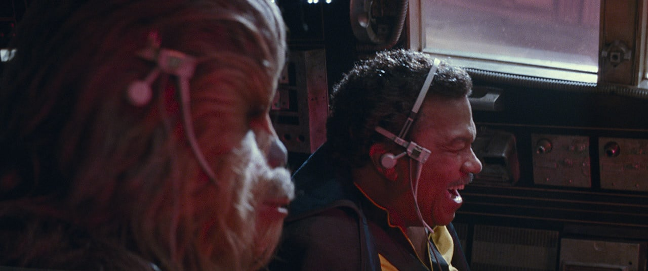 Chewie and Lando in Falcon