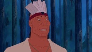 "Chief Powhatan from the animated movie ""Pocahontas"""