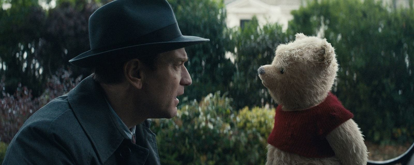 Ewan McGregor plays Christopher Robin opposite his longtime friend Winnie the Pooh.