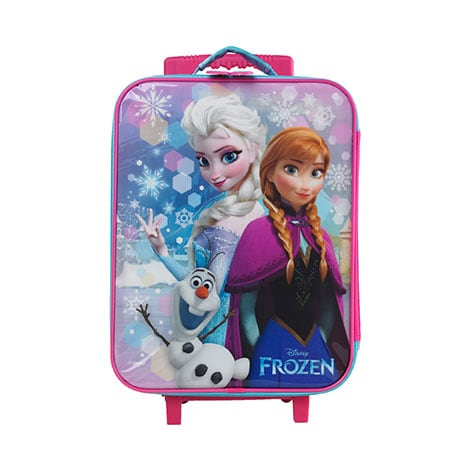 Disney Frozen Suitcase Trolley Bag Pink
