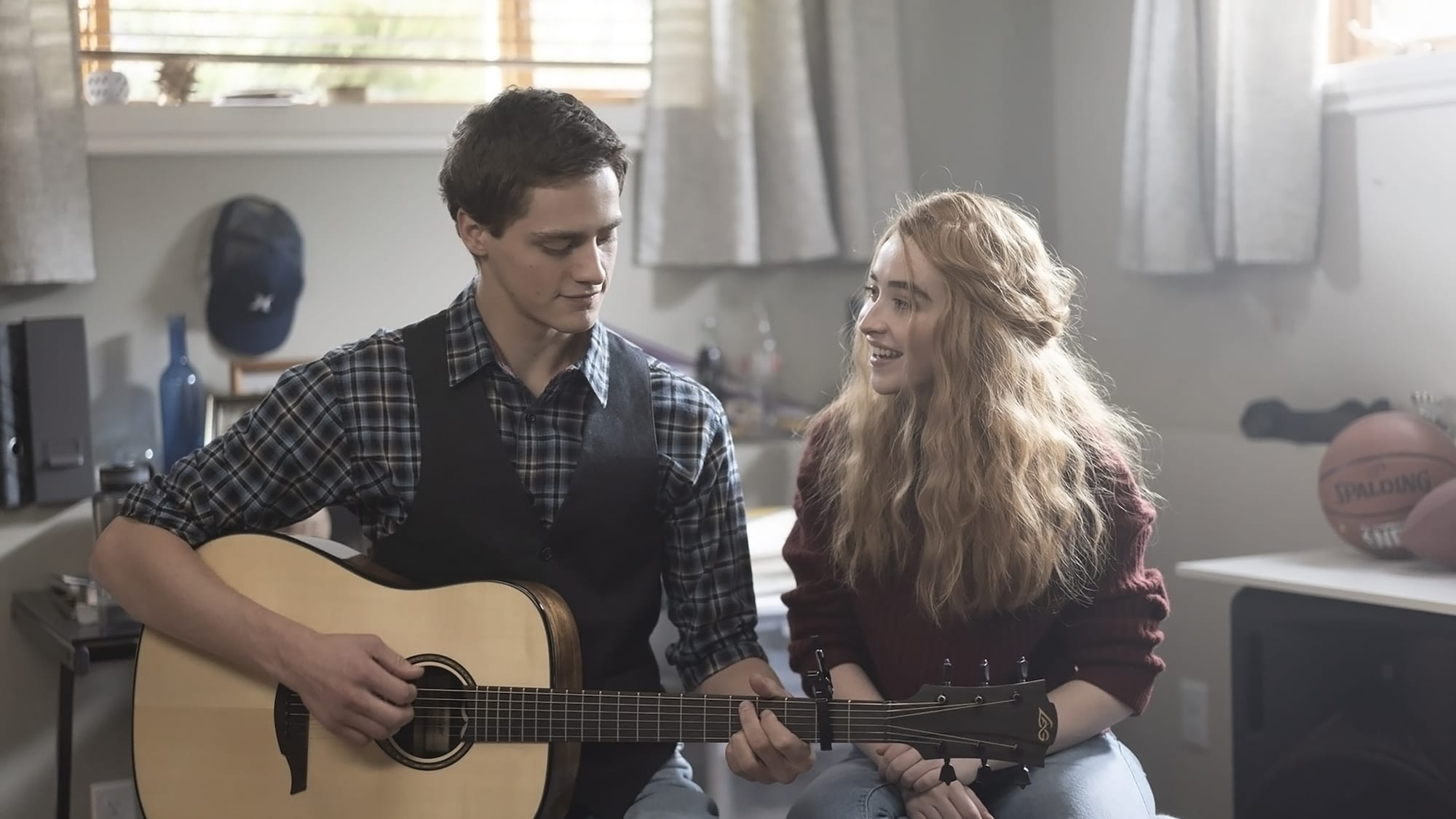 CLOUDS - A teenager is diagnosed with a rare form of bone cancer and finds a way to inspire others with the little time he has left. (Disney/ Laurent Guerin)  Fin Argus, Sabrina Carpenter