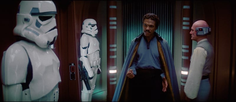 Lando and Lobot with Stormtroopers