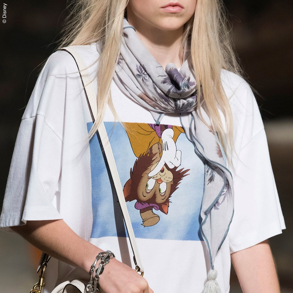Disney themed white tee shirt from the Coach Spring Collection