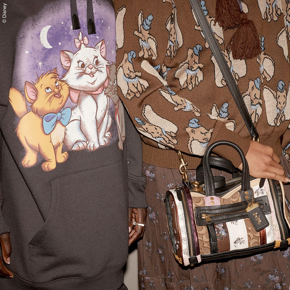 Disney themed hoodie and sweatshirt from the Coach Spring Collection