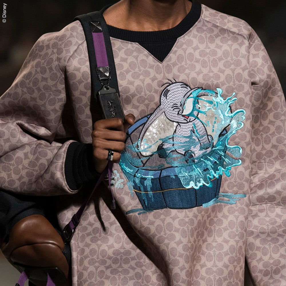 Disney themed  sweatshirt from the Coach Spring Collection