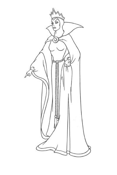 Coloriage La méchante reine