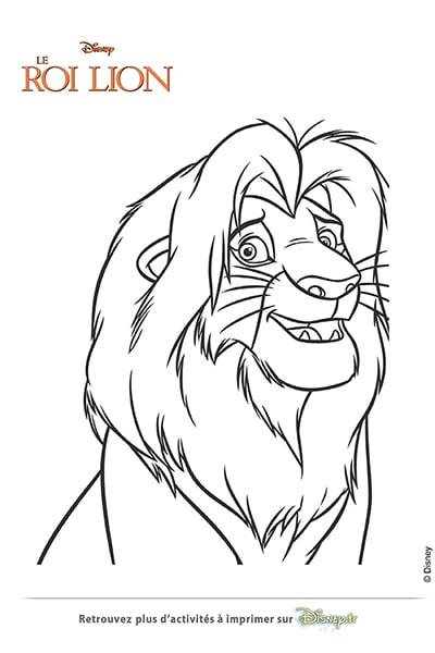Coloriage simba disney coloriages fr - Roi coloriage ...