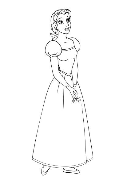Coloriage Belle pensive
