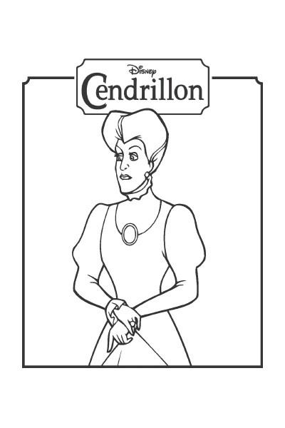 Coloriage La belle-mère de Cendrillon