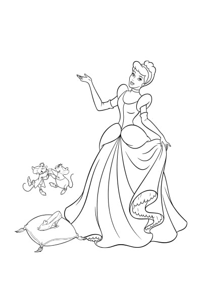 Coloriages cendrillon disney coloriages fr - Dessin cendrillon ...