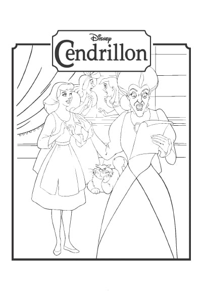 Coloriage L'invitation au bal