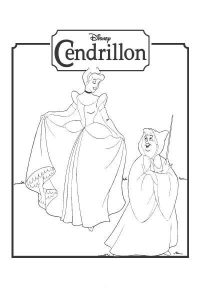 Cendrillon compte les pantoufles disney coloriages fr - Coloriages cendrillon ...