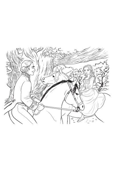 Coloriage Ella et le Prince Charmant