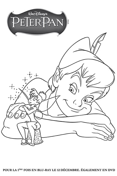 Coloriages clochette disney coloriages fr - Personnage de peter pan ...