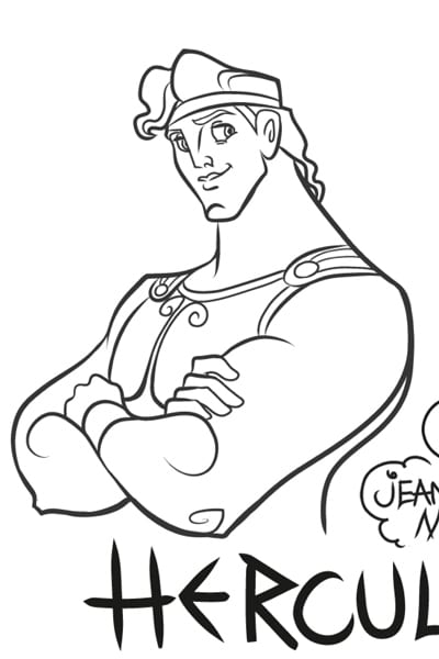 Coloriage Hercule - We Love Disney 2