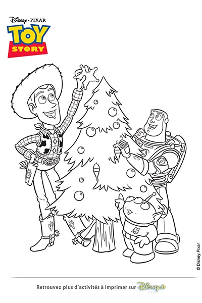 Coloriage Le Sapin Toy Story