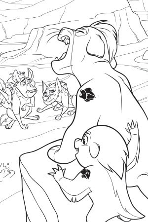 The Lion Guard Colouring Sheet Disney Junior Singapore