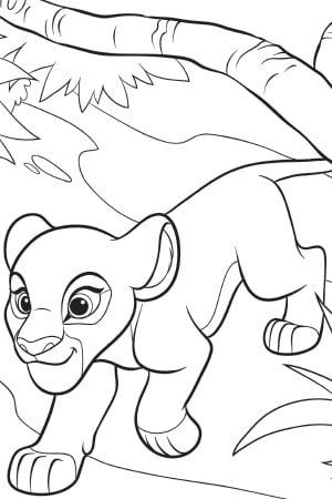 Ono The Lion Guard Coloring Page Coloring Coloring Pages