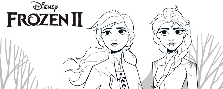Imagem de Elsa e Anna para colorir