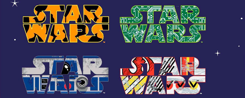 Vários logos de Star Wars coloridos