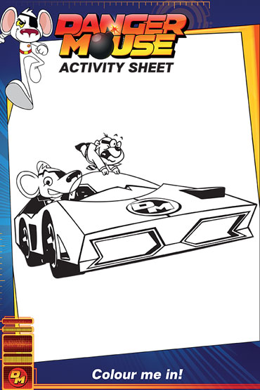 Colour Danger Mouse and Penfold - Danger Mouse Activity Sheet