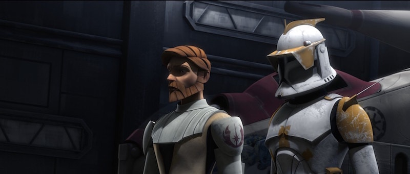 Commander Cody and Obi-Wan Kenobi during The Clone Wars