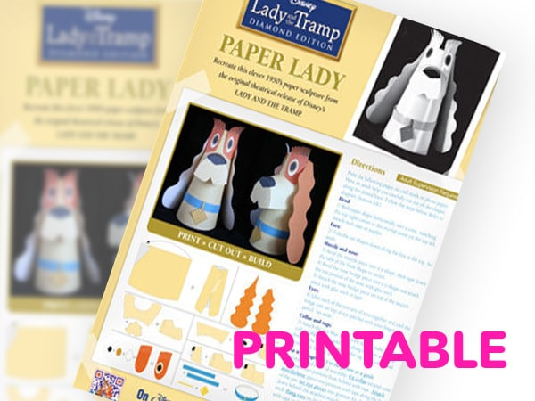 Lady and the Tramp - Paper Lady Printable