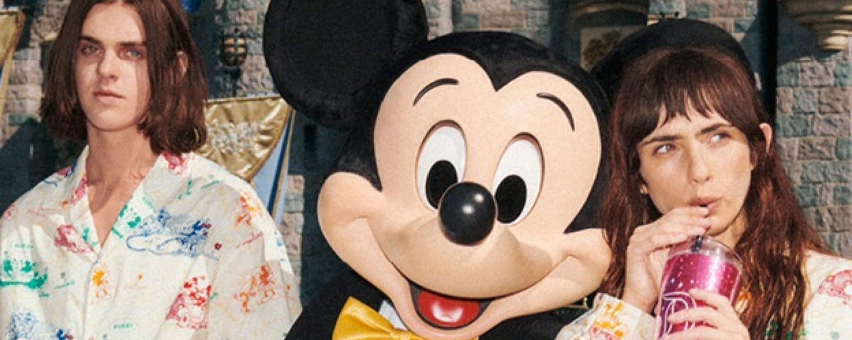 Mickey Mouse with two models