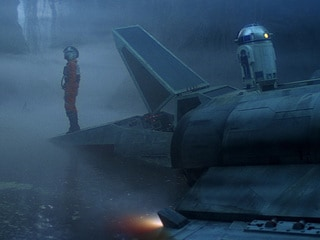 Arriving on Dagobah