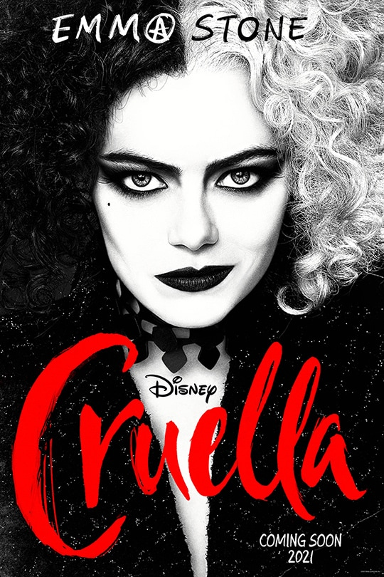 Emma Stone | Disney | Cruella | May 2021 | movie poster