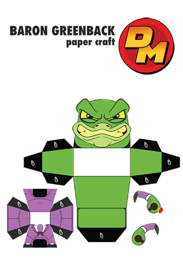 Baron Greenback Cut-Out - Danger Mouse Activity Sheet