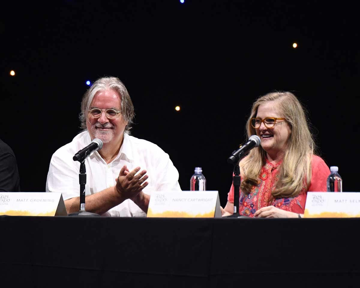 Matt Groening and Nancy Cartwrright