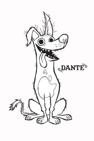Disney.Pixar Coco - Dante - Coloring Page