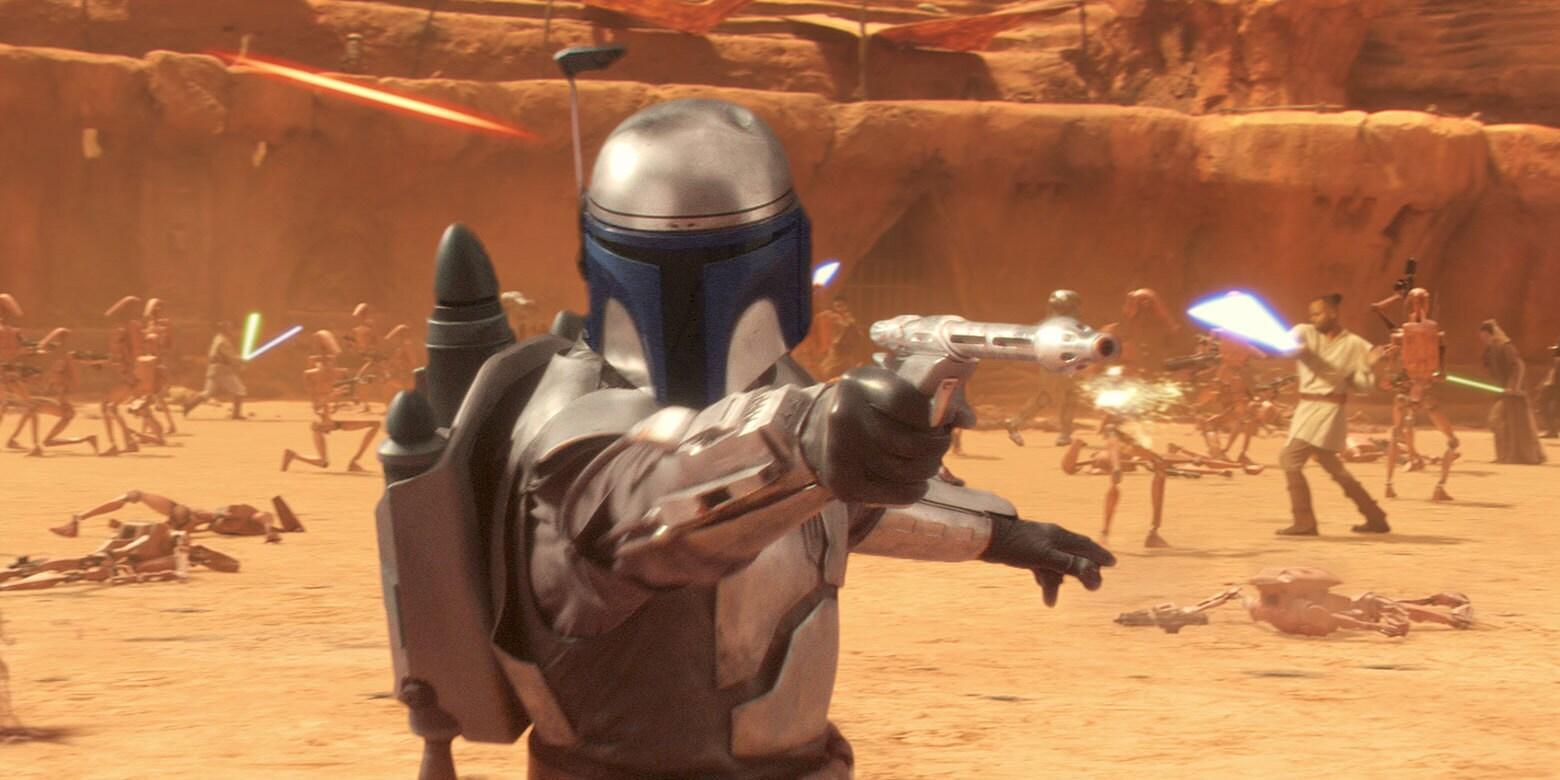 Jango Fett en el Star Wars Episodio II: El Ataque de los Clones