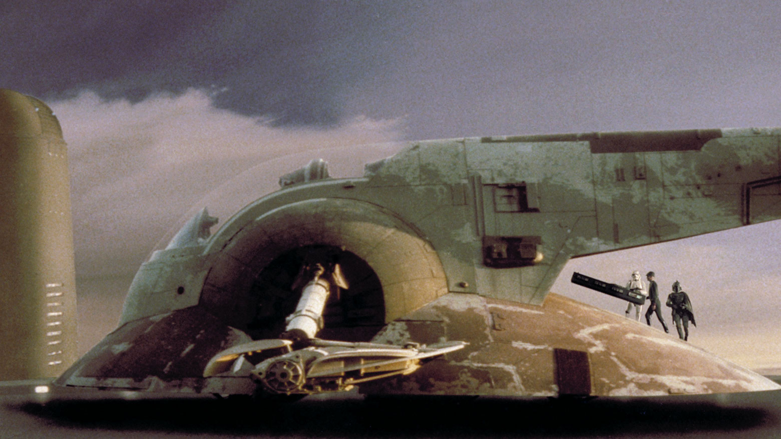 star wars bounty hunters images slave 1 in action wallpaper and ...