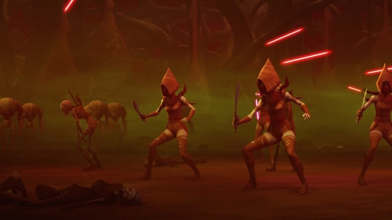 The Nightsisters battle General Grievous