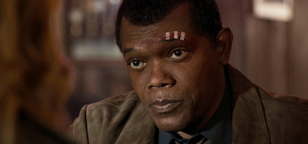 Samuel Jackson (Nick Fury) in Marvel Studios' Captain Marvel