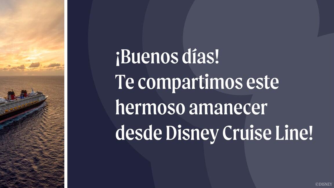 Comienza tu día con amaneceres oceánicos impresionantes desde los cruceros de Disney