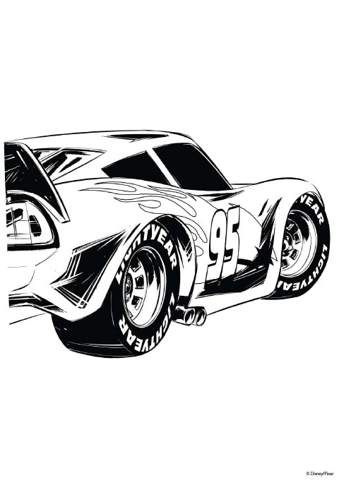 Cars - Colouring Sheet - 8