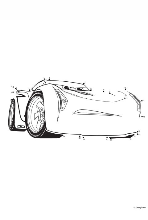 Cars - Colouring Sheet - 9