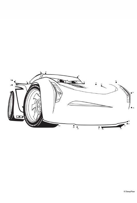 Cars - Ausmalbild