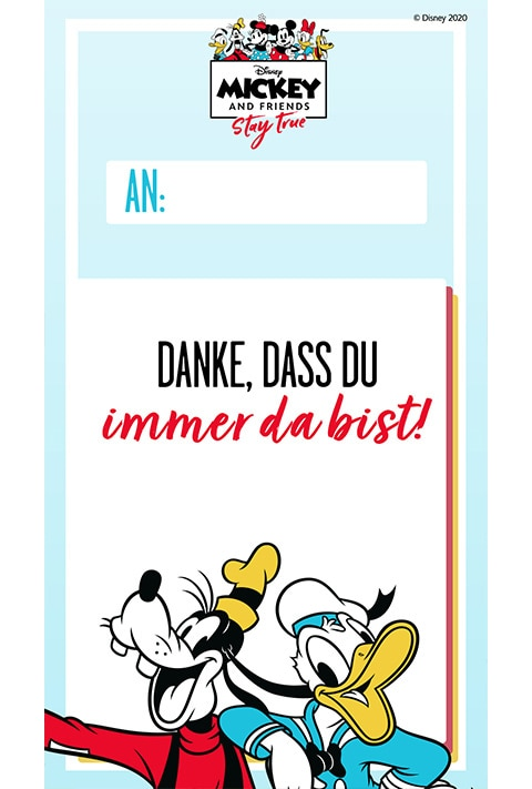 IFD - Thank you card - Goofy and Donald