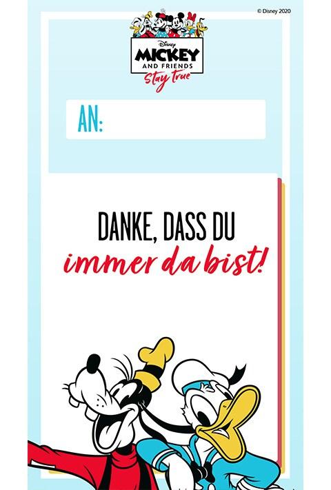 Goofy und Donald - Danksagungskarte
