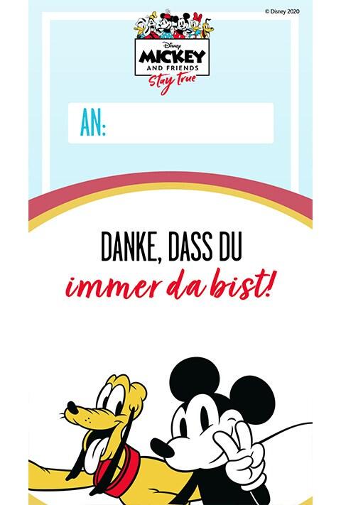 Pluto und Micky - Danksagungskarte