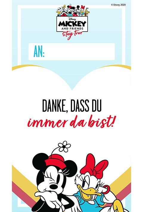 Minnie und Daisy - Danksagungskarte